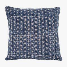 Stars Indigo Pillow Cover