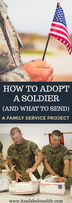 Adopt a soldier pen pal program