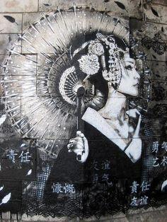 #phresh #graffiti #street #chinese (black 'n white)