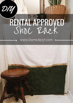 domicile 37: DIY: Rental Approved Shoe Rack