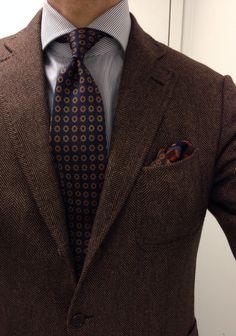 That professorly vibe. Ermenegildo Zegna cashmere silk Milano jacket Finamore shirt Drakes tie Drakes wool silk PS Creed Royal Scottish Lavender