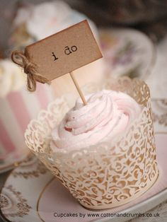 I Do Cupcake Sticks  parcel brown and twine by vintagetwee on Etsy, $5.50
