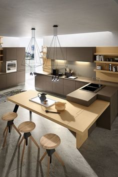 A Perfect Combination of Modern And Classic Styles in The Same Kitchen