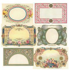 Image detail for -free-printable-vintage-labels. Printable Lables, Printable Frames, Printable Designs, Printable Paper, Free Printables, Printable Vintage, Paper Art, Paper Crafts, Diy Crafts