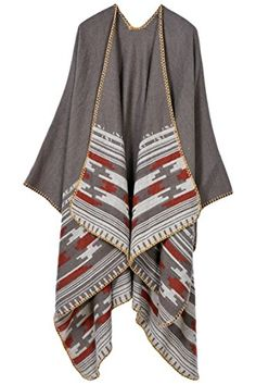 Rokiney Knitted Tartan Stylished Cape Warm Poncho Fashion (Community) Shawl Scarves Khaki -- Want to know more, click on the image.
