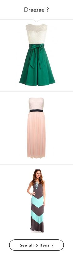 """""""Dresses 👗"""" by tamialyric ❤ liked on Polyvore featuring dresses, bow belt dress, green dress, dresses with belts, lace inset dress, bow dress, nude, holiday party dresses, lace cocktail dress and maxi dresses"""