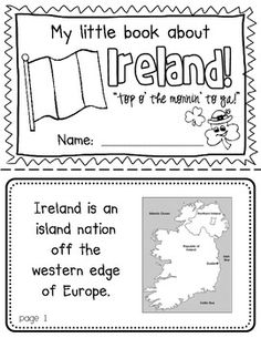 Ireland Booklet (A Country Study!) -- Use during social studies units about countries around the world! TeachersPayTeachers