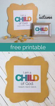 I am a child of God - http://demfab.com/i-am-a-child-of-god/