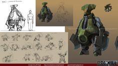 Ironkill App Game Artwork -- The robot Smasher Concept Art , Jay Wong
