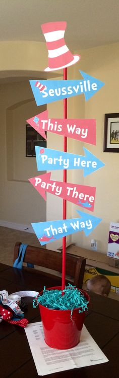 Cute Dr Seuss sign for birthday party