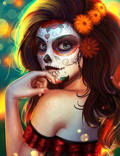 Catrina 2015, Victor Lozada on ArtStation at https://www.artstation.com/artwork/2LQmv