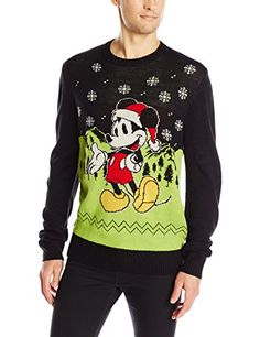 Disney Men's Holiday Mouse Sweater, Black, XX-Large * Find out more about the great product at the image link.