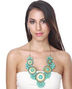 lulus neptunes treasure turq. necklace $27