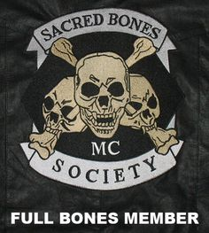 Motorcycle Club Patches The sacred bones mc patch