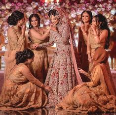 Beautiful desi bride on wedding day Asian Bridal Dresses, Wedding Bridesmaid Dresses, Bridal Outfits, Dress Wedding, Desi Bride, Indian Bridesmaids, Bridesmaid Outfit, Bridal Gallery, Pakistani Wedding Dresses