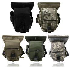 Outdoor Tactical Military Drop Leg Bag Panel Utility Waist Belt Pouch Bag HR