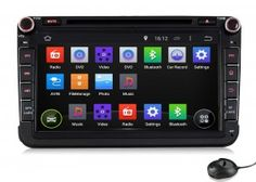 Pumpkin Android 4.4 Kitkat Car Stereo 2/Double Din DVD GPS Navigation with 8 inch Head Unit Support 3G / WIFI / Can-Bus / OBD2 / Free Mic for VW