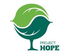 Project Hope is a non-profit helping families at or below poverty level to create a more sustainable lifestyle. The previous logo used a stock image of a tree, and they wanted to maintain some reference to the tree. The leaf is for growth and the bird is for hope and nurturing.    Designed by Creative Squall.