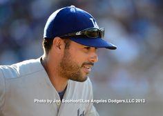 Andre Ethier Andre Ethier, Dodgers Fan, Los Angeles Dodgers, Cute Guys, Riding Helmets, Dodgers Baseball, Cute Teenage Boys, Eye Candy Guys