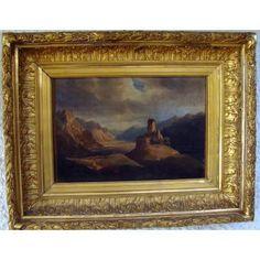 Ruines Antiques Et Troupeau Dans Les Dolomites Ecole Italienne 18ème Huile/toile
