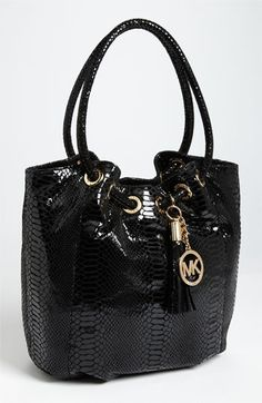 MICHAEL Michael Kors 'Ring' Tote available at Nordstrom-Love it-thinking I might just buy it! Michael Kors Ring, Michael Kors Outlet, Handbags Michael Kors, Michael Kors Hamilton, Purses And Handbags, Glam Rock, Carteras Michael Kors, Cheap Mk Bags, Michael Kors Fashion
