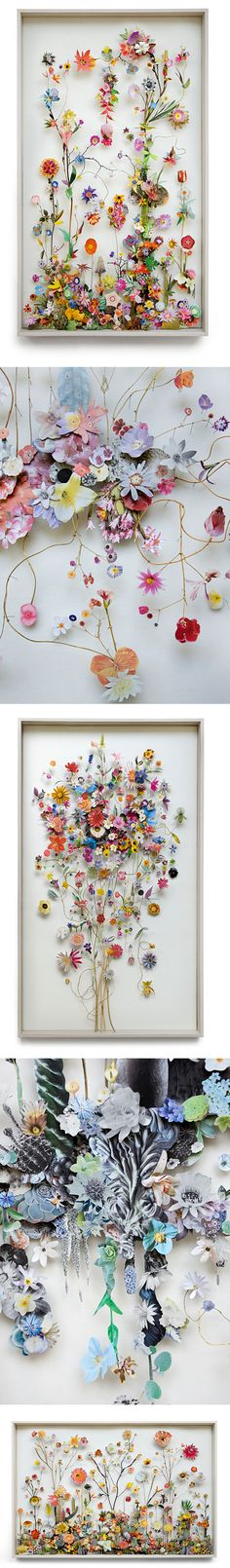 The difference between art and craft and the work of Anne Ten Donkelaar& collages. Flower Collage, Collage Art, Flower Art, Dried Flowers, Paper Flowers, Paper Art, Paper Crafts, Art Floral, Aunt Peaches