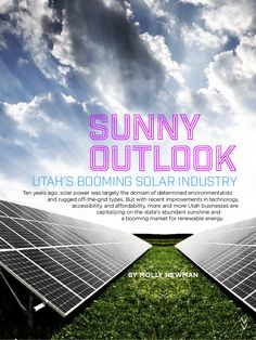 Utah's Booming Solar Industry Business Connect Magazine December 2015: