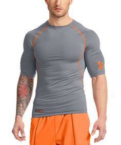 Another great find on #zulily! Steel Combine® Training Fitted Half-Sleeve Tee by Under Armour® #zulilyfinds