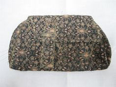 VINTAGE 1920's ART DECO FLAPPER EMBROIDERED LAME CLUTCH PURSE   eBay