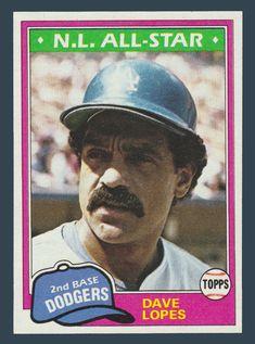 Dave Lopes # 50 - 1981 Topps Baseball