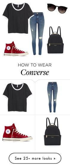 """Untitled #225"" by mariya-way on Polyvore featuring River Island, H&M, Henri Bendel, Converse and Ray-Ban"