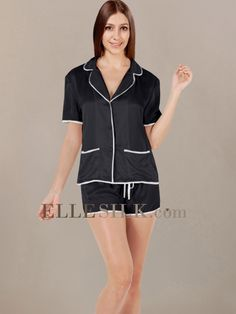 gorgeous pajamas | Women's Summer Sleepwear_Black/Ivory
