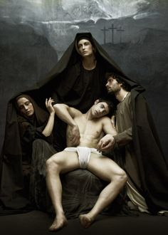 "vangeliskyris:"" deposition ""The Holy Idol"" foto v. The Happy Prince, Plain Canvas, Halloween Fashion, Caravaggio, Gay Art, Atheism, Male Body, Catholic, Religion"