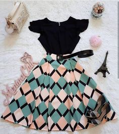 30 Trendy Summer Outfits Ideas for Teen Girls to Try Teen Fashion Outfits, Mode Outfits, Cute Fashion, Modest Fashion, Dress Outfits, Casual Outfits, Summer Outfits, Fashion Dresses, Circle Skirt Outfits