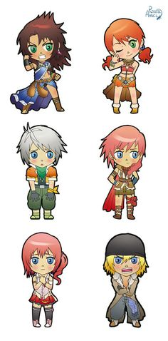 Chibi Final Fantasy XIII by GeckUP on deviantART