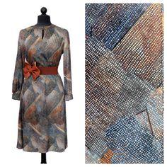 Vintage Shift Dress / Neutral / Brown Gray / by ManhattanHippy, $36.00...Love this from #manhattanhippy !!! Wish it were my size