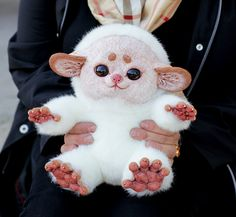White thing by *Santani on deviantART cute overload creature fuzzy animal plushie