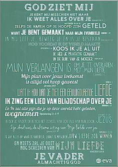 """Gratis poster """"God ziet mij"""" - Geloven"""