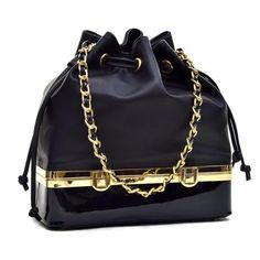1e9e0c4a017c Dasein® Faux Leather Bucket Bag with Structured Bottom Compartment Black  Backpack