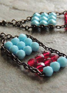 Kupuj mé předměty na #vinted http://www.vinted.cz/doplnky/nausnice/15740849-nausnice-pocitadlo-modracervena
