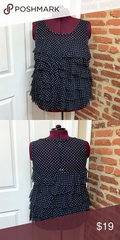 1d719ccfae7 I just added this listing on Poshmark  INC Woman Plus Size Tiered Mesh  Polka Dot Top.  shopmycloset  poshmark  fashion  shopping  style  forsale   INC ...