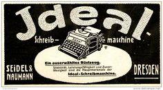 Original-Werbung/ Anzeige 1911 - IDEAL SCHREIBMASCHINE / SEIDEL & NAUMANN - ca. 120 x 65 mm