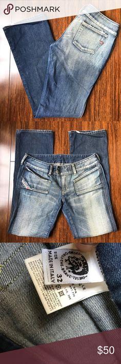 Diesel Hush Jeans Diesel Hush Bootcut Jeans. 2 button closure. 33 inch inseam. 8 inch rise. 100% cotton Diesel Jeans Boot Cut