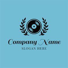 Black Branch and CD Icon logo design Custom Logo Design, Custom Logos, Online Logo, Music Logo, Logo Maker, Company Names, Slogan, App, Free