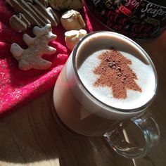 Keeping the festivities going.  Shown here : Healthy Hot Chocolate dairy free  tons of added nutrients eggnog shortbread marzipan cookies and gingerbread men - all gluten free #eatwithstacey