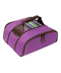 Look at this #zulilyfind! Purple Rachael Ray  Stripe Stow-a-Way Carrier #zulilyfinds