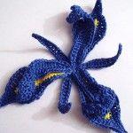 Iris flower crochet pattern
