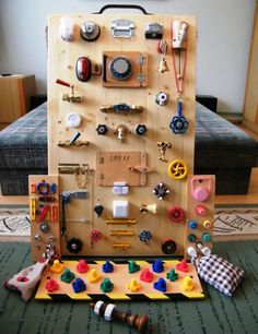 Busy board skill developer set -a little more advanced player site (B) (kamiel. Busy board skill developer set -a little more advanced player site (B) (kamiel Baby Sensory Board, Toddler Activity Board, Baby Sensory Play, Sensory Wall, Sensory Boards, Busy Boards For Toddlers, Board For Kids, Diy For Kids, Diy Busy Board