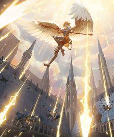 angel character design Drawings - Trend Home Design Ideen 2019 Fantasy Angel, Fantasy Magic, Magic Art, Fantasy World, Dark Fantasy, Fantasy City, Fantasy Forest, Fantasy Castle, Male Character