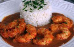 Receta Langostinos al curry